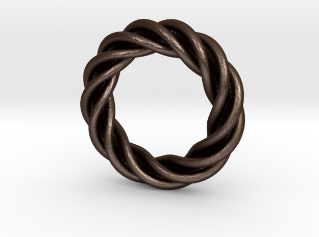 Artistic Ring Twisted 01 3d printed