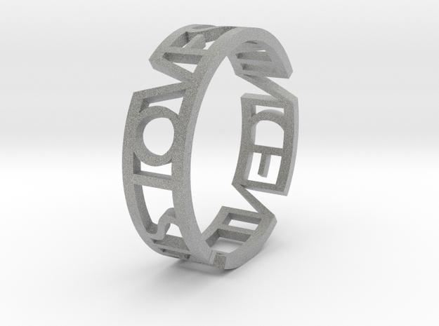ring iris white strong 3d printed