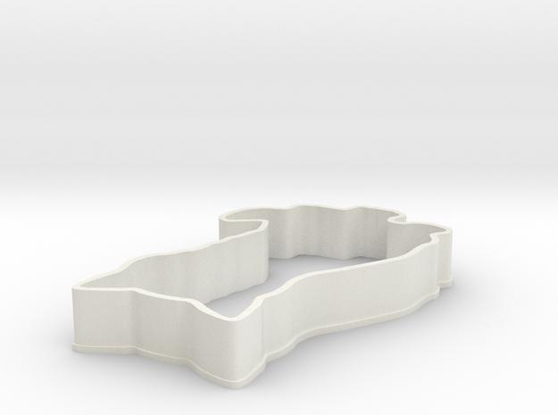 Cat Cookie Cutter in White Natural Versatile Plastic