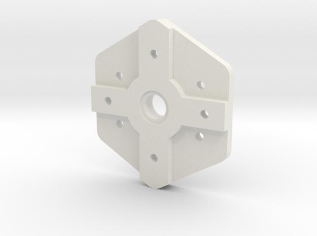 Small Camera Servo Mount in White Natural Versatile Plastic
