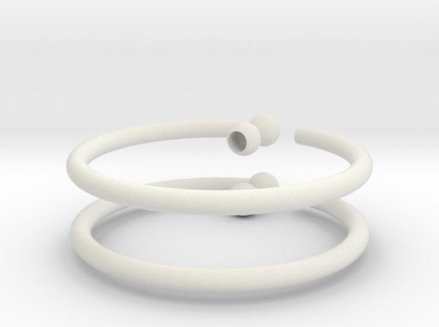 Glass Charm 2 Rings 3d printed