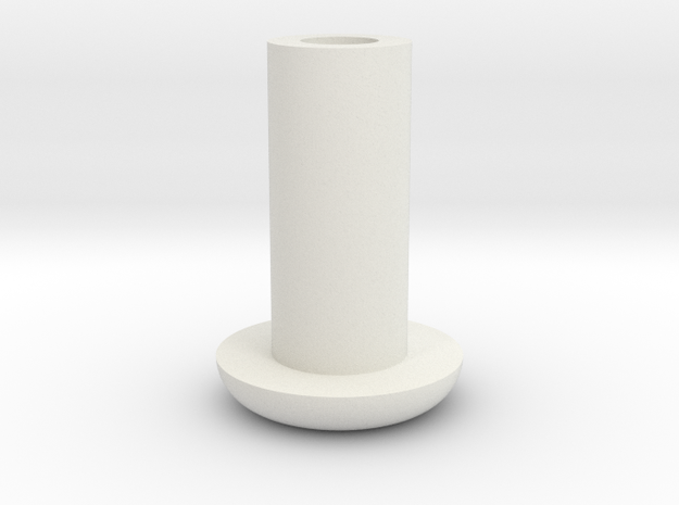 Bolt_A in White Natural Versatile Plastic