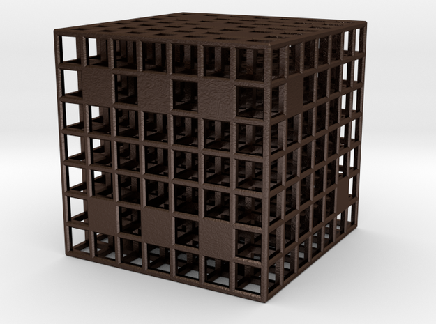 Steel Grid Dice (3 cm) 3d printed