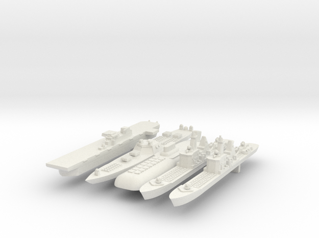 1:6000 Fleet in White Natural Versatile Plastic