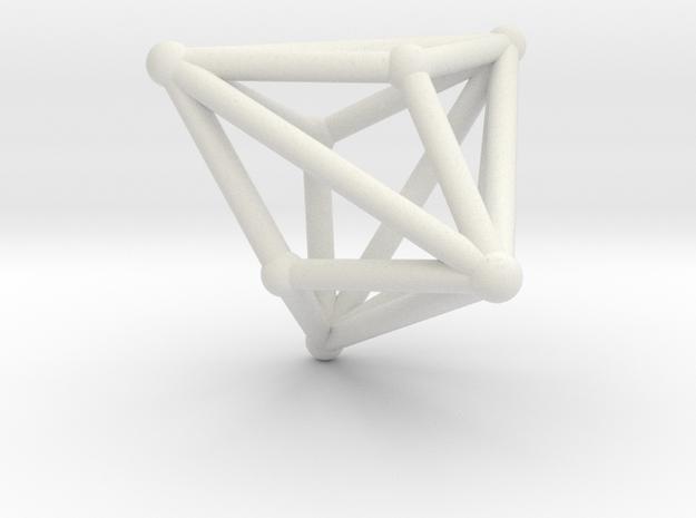 Triakistetrahedron in White Strong & Flexible
