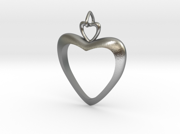 Loving Heart in Natural Silver