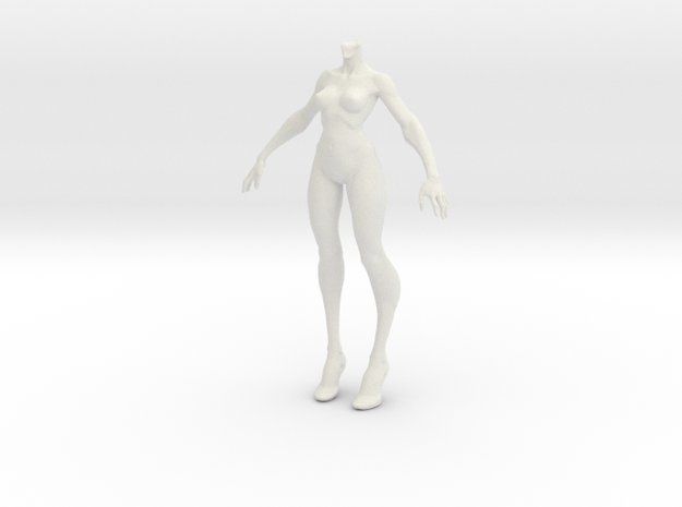 1:6 female body in White Natural Versatile Plastic