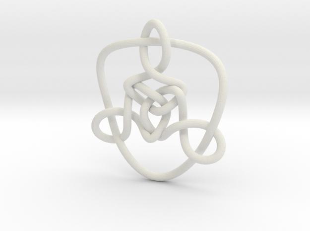 Celtic Knots 01 in White Natural Versatile Plastic
