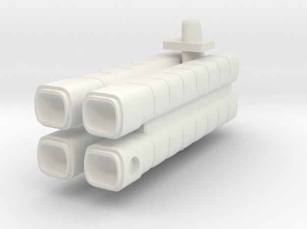 Mulcien Gonnus Class Freighter in White Natural Versatile Plastic