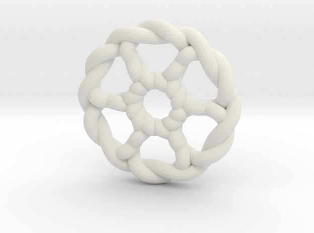 Celtic Knots 07 in White Natural Versatile Plastic