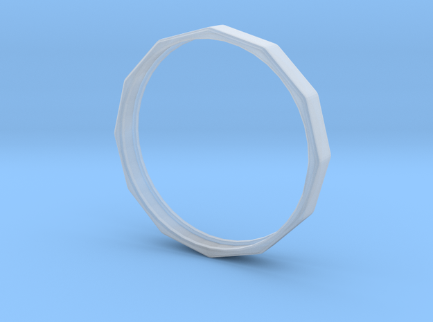 Edgy Ring 20mm 3d printed