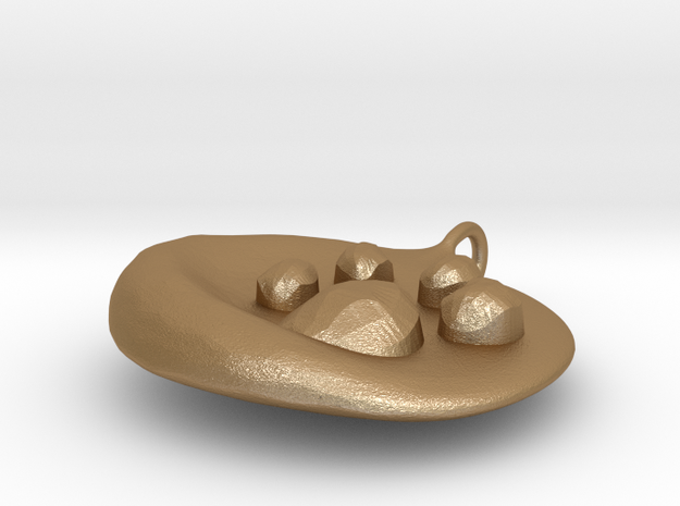 Large Pawprint DogTag / Charm 3d printed