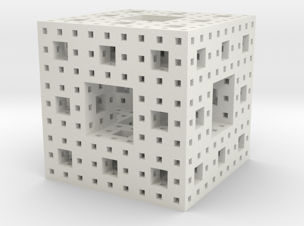 Menger Sponge (level-3) 3d printed