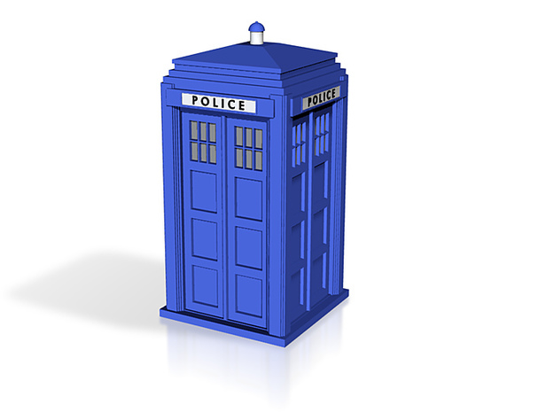 police box all colour 3d printed