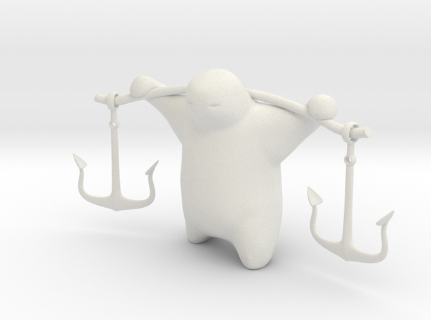 Anchor Guy 3d printed Description