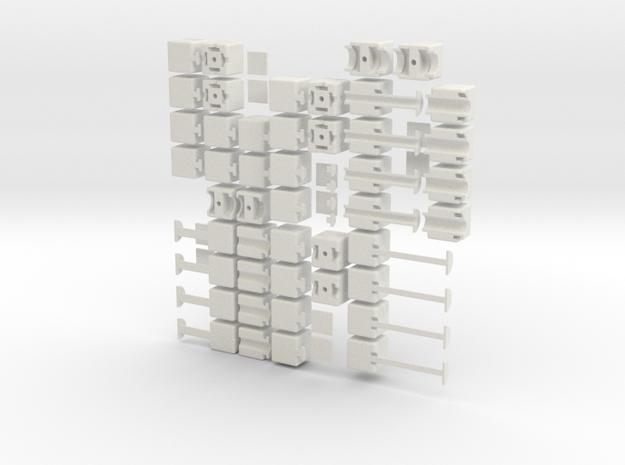 1x2xn set in White Natural Versatile Plastic