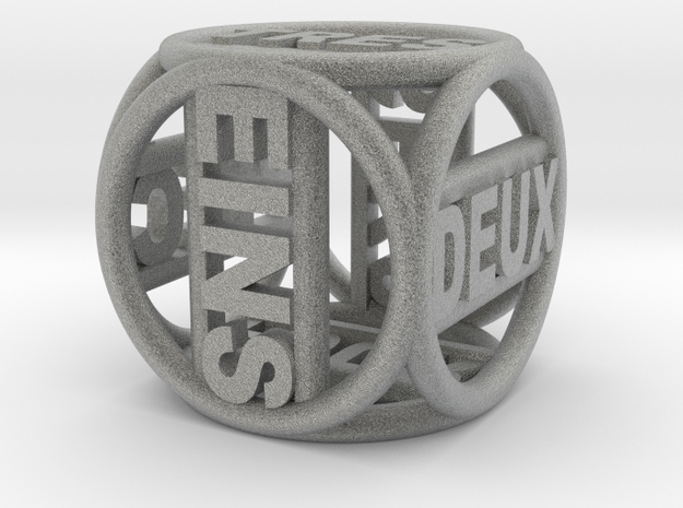 Text Dice   16mm 3d printed