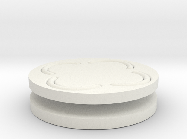 vortex buttons round in White Natural Versatile Plastic