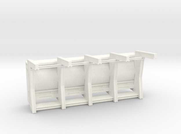 Front Wall Insert for DeAgo Falcon in White Processed Versatile Plastic