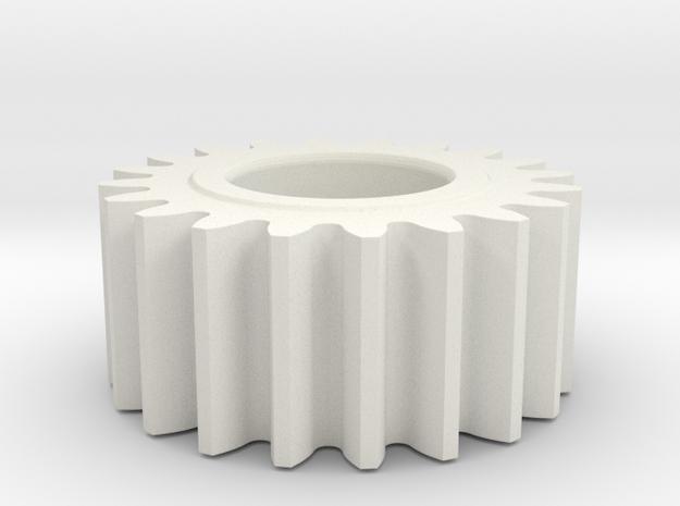 spur gear in White Natural Versatile Plastic