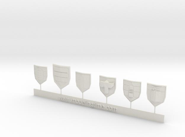 Wargames Shields set N°2 3d printed