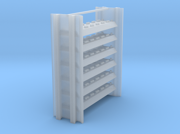 Intermediate Rail Rack for Rail Train in Smooth Fine Detail Plastic