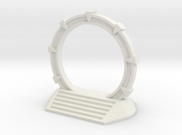Gate Game Token (2cm) in White Strong & Flexible
