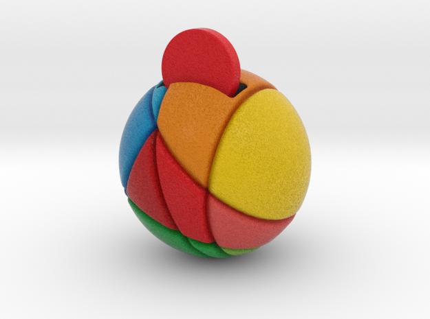 ReddCoin Spherical Logo in Full Color Sandstone
