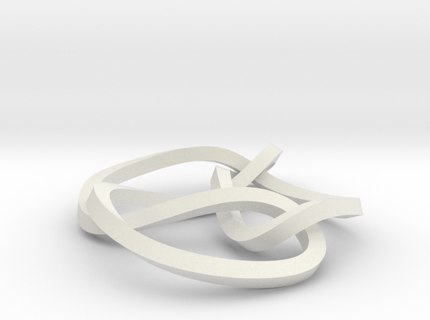 6-3 mobius knot small in White Strong & Flexible