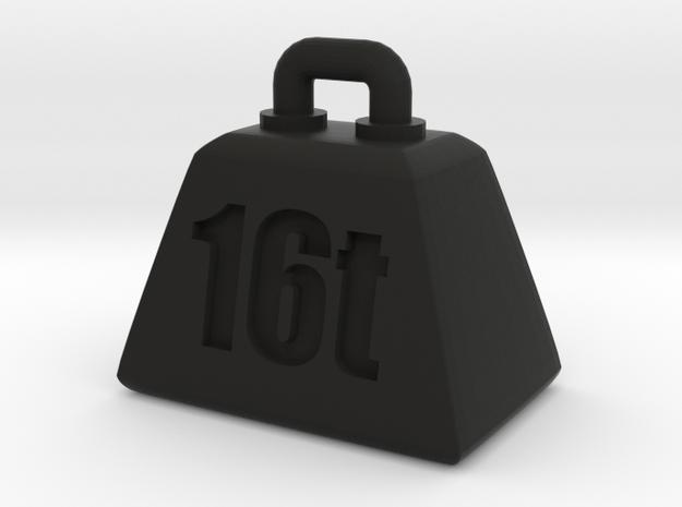 16t weight (Pendant-top) in Black Natural Versatile Plastic