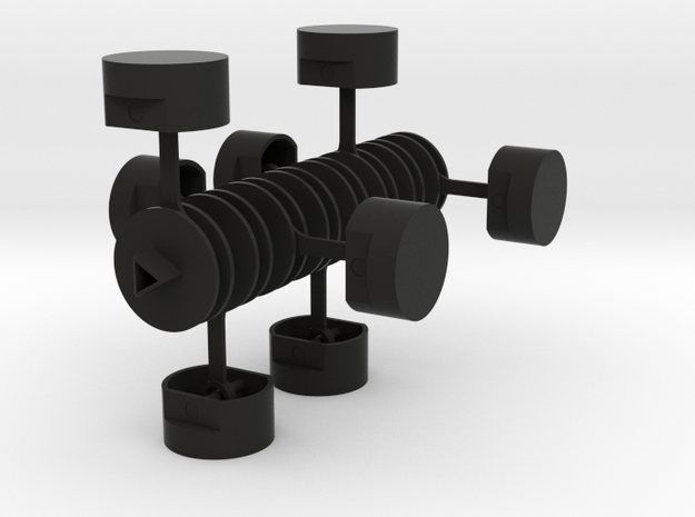 Crankshaft with Pistons 3d printed
