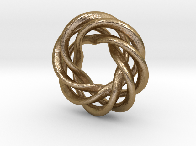 Charm Bead 4 strand mobius spiral 3d printed