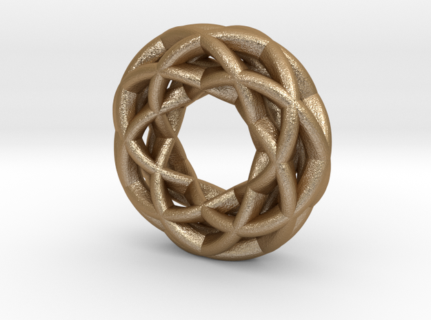 4 strand double mobius spiral charm bead 3d printed