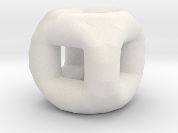 Micro CuboTore in White Strong & Flexible