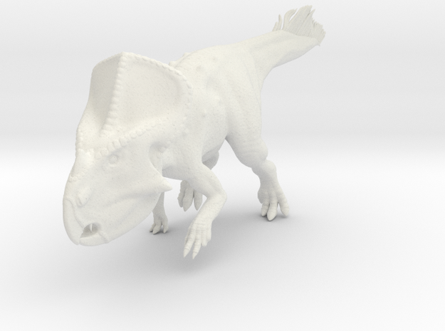 Protoceratops Quilled (1:12 scale model) in White Natural Versatile Plastic