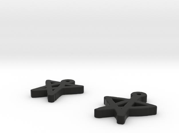 draw-earrings-5.stl 3d printed