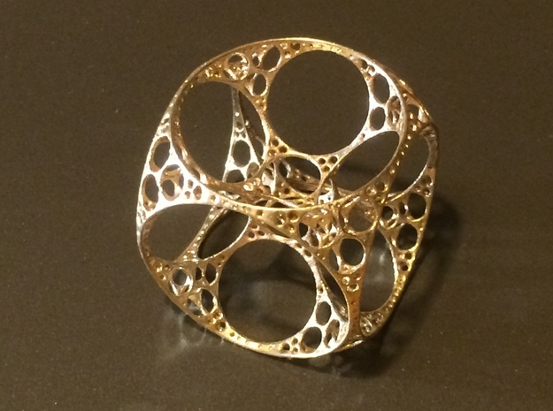 Apollonian Cube Small 3d printed Raw Bronze