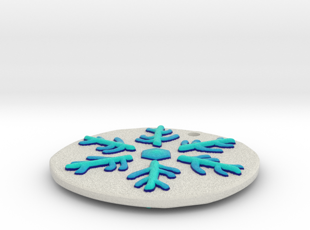 Elder Sign Snowflake Ornament 3d printed