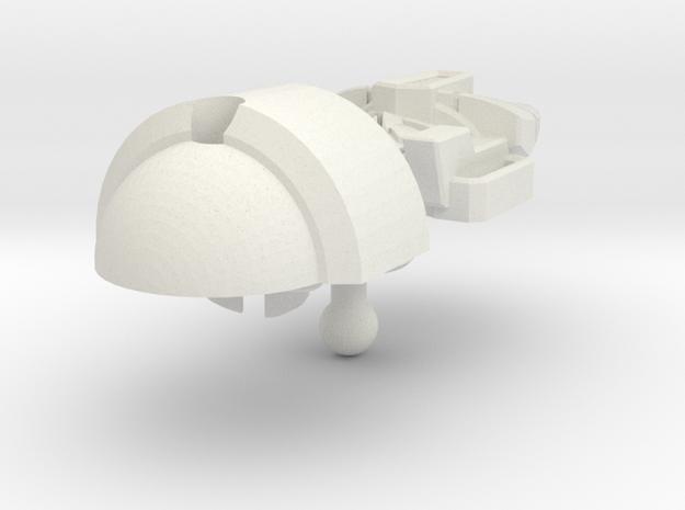 Bludgeon head IDW style B in White Natural Versatile Plastic