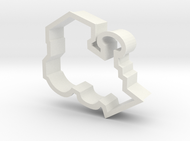 Train Engine Cookie Cutter in White Strong & Flexible