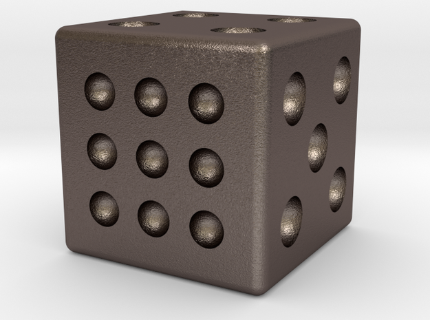 PI Numbered D6 - Steel 3d printed