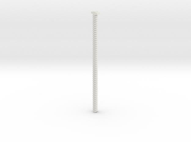 3mm double belt in White Natural Versatile Plastic