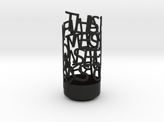Light Poem test 3d printed