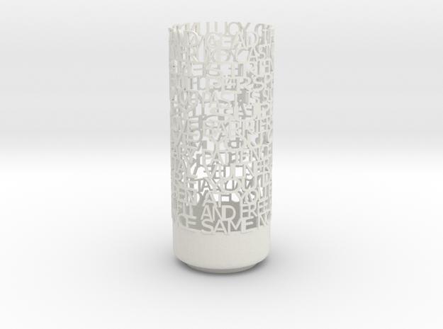 Light Poem 5 in White Natural Versatile Plastic