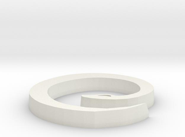 Snake Pendant 2 in White Natural Versatile Plastic