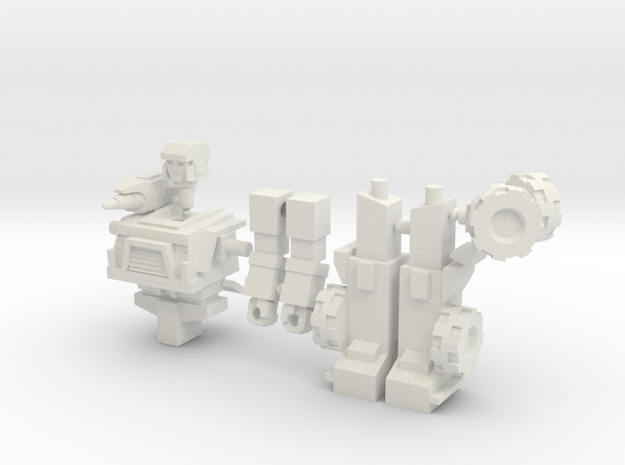 Hound minifigure in White Natural Versatile Plastic