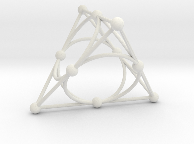 002: Desargues Configuration in White Natural Versatile Plastic