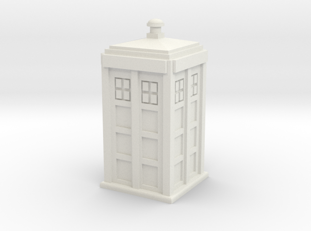 TARDIS (simple) 3d printed