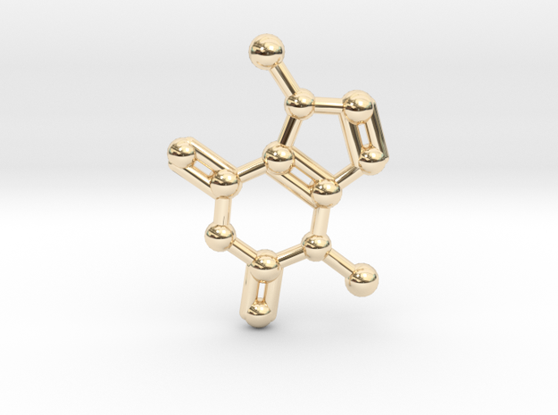 Theobromine (Chocolate) Molecule Necklace / Keycha