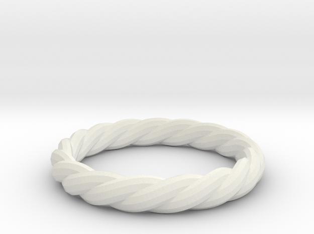 twist ring in White Natural Versatile Plastic